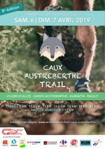 Caux-Austreberthe Trail - Inscription